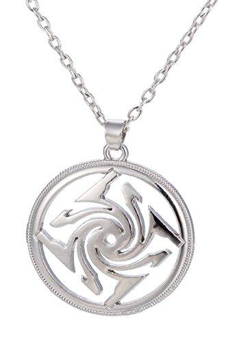 Dawapara Vintage Swastika Solar Symbol Slavic Amulet Pendant Necklace Jewelry for Men Women (Link Chain)