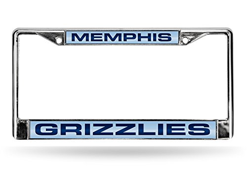 Rico NBA Memphis Grizzlies Laser Cut Inlaid Standard Chrome License Plate Frame, Chrome by Rico