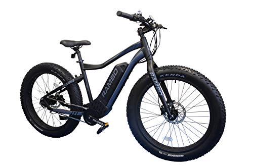 Rambo 2019 750W Electric Bike (Matte Black & Gray)