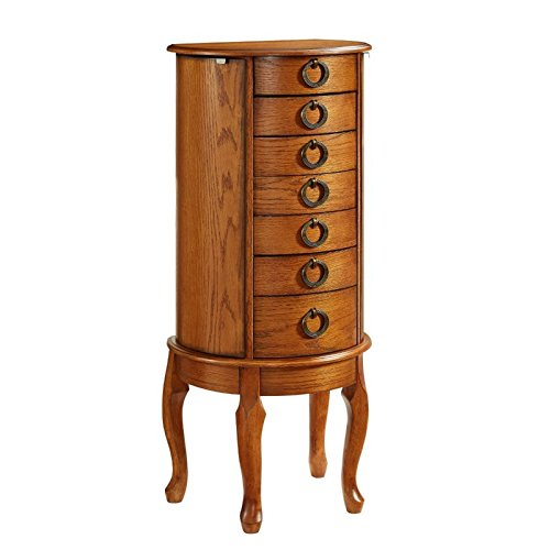 Powell Burnished Oak Jewelry Armoire by Powell (Image #4)