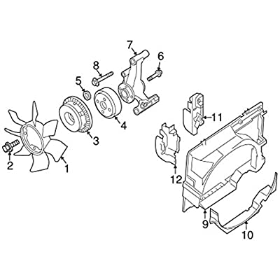 Nissan 21082-EA200, Engine Cooling Fan Clutch: Automotive