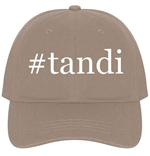 (The Town Butler #Tandi - A Nice Comfortable Adjustable Hashtag Dad Hat Cap, Khaki)