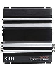 Placa de amplificador de 12 V, amplificador de automóvil de 12 V de alta potencia 380 W Amplificador de automóvil de 12 V 2 canales de audio de alta fidelidad Amplificador de sonido estéreo