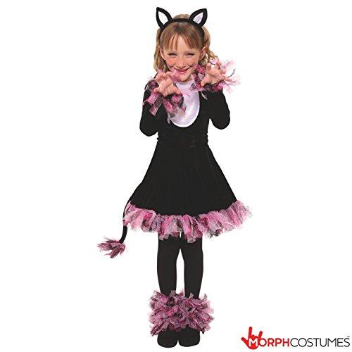Girls Cute Big Girls Black Cat Costume Age 10 - 12 Years (Girls Cat Costume)
