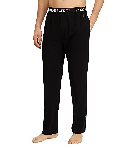 Ralph Lauren Mens Pajamas - Polo Ralph Lauren Supreme Comfort Knit Lounge Pants, M, Polo Black