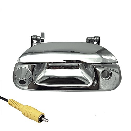 Master Tailgaters Replacement for Ford 1997-2007 F150 F250 F350 F450 F550 Tailgate Backup Reverse Handle with Camera (Chrome)