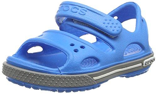 Crocs Kid's Boys and Girls Crocband II Sandal | Pre School Flat, Ocean/Smoke 8 M US Toddler by Crocs (Image #1)