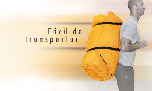 Futon Portatile Orancione 200x140x4 cm
