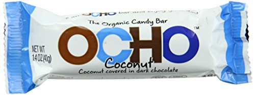 OCHO Organic Candy Bar, Coconut, 1.4 Ounce (Pack of 18) (Ocho Chocolate)