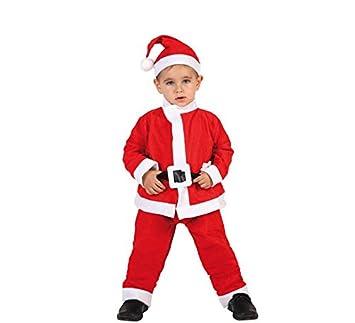 Atosa-69212 Atosa-69212-Disfraz Papá Noel niño Infantil-Talla Navidad, Color rojo, 7 a 9 años (69212