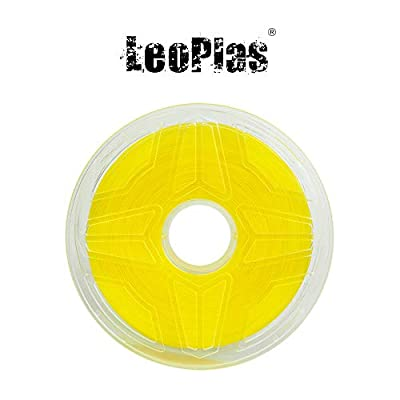 LeoPlas New Store USA Spain China Warehouse Global Shipping No Warping 1.75mm Transparent Translucent Yellow ABS Filament 8 Colors 1Kg 2.2 Pounds FDM 3D Printer Pen Supplies Plastic Printing Material