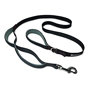 (Black/Red/Grey) – Leashboss 3X – Two Handle Dog Leash with Extra Traffic Handle – Heavy Duty Double Padded Handle Lead… Click on image for further info.