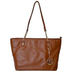 Michael Kors Leather Jet Set EW Chain Tote Shoulder Handbag