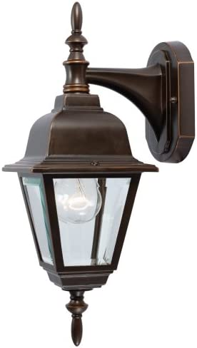 Hardware House 544312 16-1 4-Inch by 6-Inch Outdoor Lighting Fixture Rust