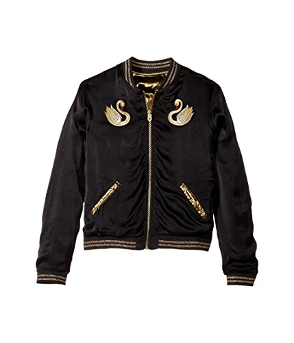 Little Marc Jacobs Girl's Reversible Satin Effect Jacket (Big Kids) Noir/Dore 12 Long by Little Marc Jacobs