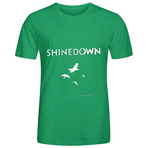 Shinedown The Sound Of Madness 1 80s Album Cover Mens Crew Neck Digital Printed Tee Shirts Green