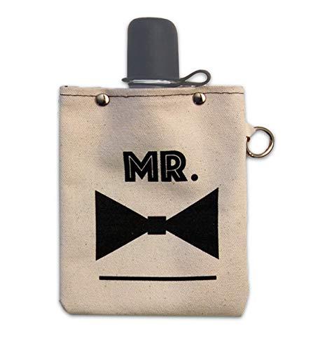 熱い販売 トートバッグ+ ableステルスキャンバスフラスコ Mr、ショットグラス、240 ml (8oz) B07CZ443YT ボリューム – Mr – (蝶ネクタイ) B07CZ443YT, シルエット:0bdacc2e --- a0267596.xsph.ru