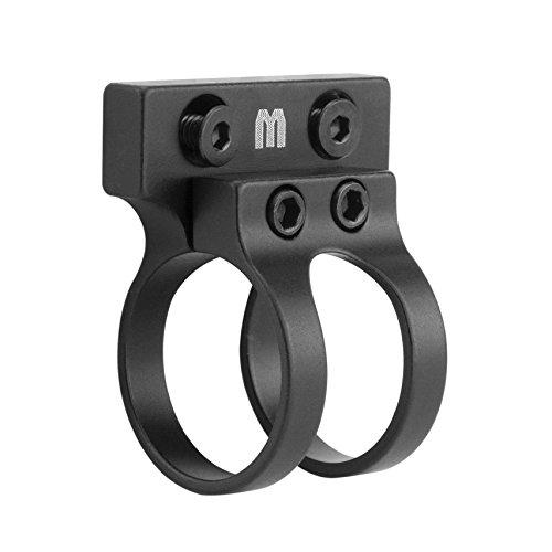 Monstrum Tactical Offset Flashlight Mount for Keymod Rail Systems (Black) ()