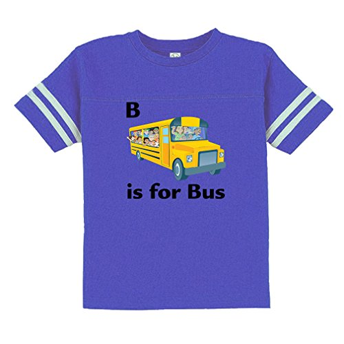 Cute Rascals B is for Bus Style 1 Toddler Football Jersey T-Shirt Tee Royal Blue 3T Pro Style Football Jersey