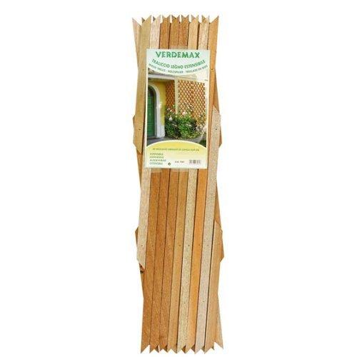 Verdemax 7582 1.8 X 0.9 m Wooden Extensible Trellis - Natural