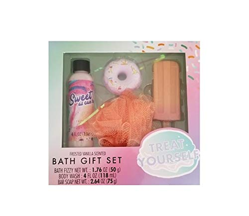 Treat Yourself Bath Gift Set (Frosted Vanilla Scented)