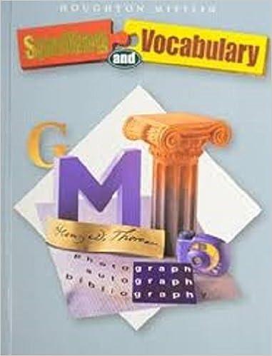 Houghton Mifflin Spelling And Vocabulary