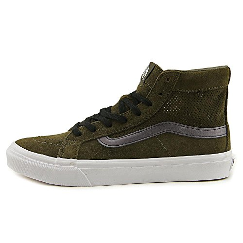 Shoe Leather True Vans Slim Mesh Skateboarding Cutout Tarmac Sk8 Hi White High Top xqpA0z