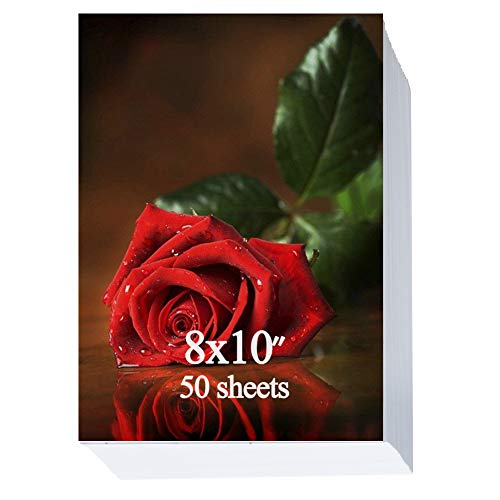 Glossy Photo Paper 8x10 inch,50 Sheets 200gsm (Canon 8 X 10 Photo Paper)
