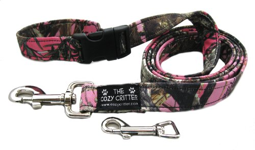 """Cozy Critter Pink Mossy Camouflage Dog Leash - 6ft-1"""""""