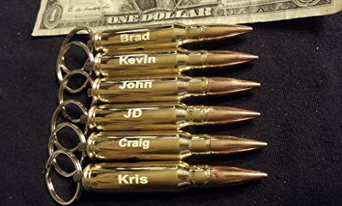 Cheap SIX Engraved .308 bullet bottle opener key chains