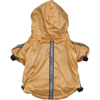 Reflecta Sport Dog Rainbreaker with Removable Hood in Musturd Size: Large (18'' L)