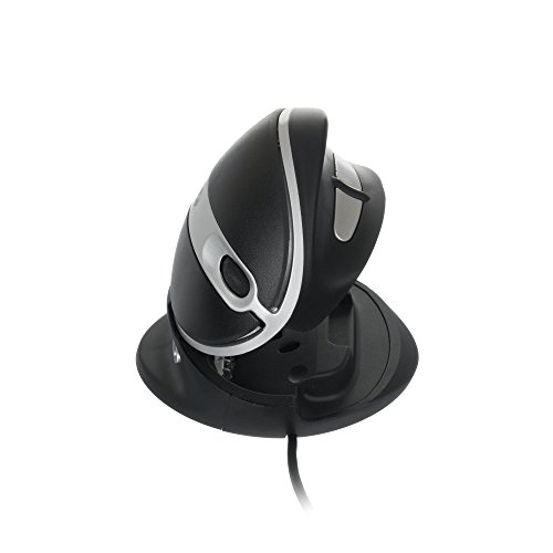 Peripheral Logix Oyster Mouse, Mouse Adjustable Ambidextrous Vertical Mouse