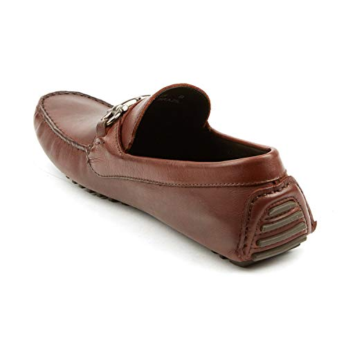 Amazon.com | Pair Of Kings Shoes Mens Top Kicker Leather Cognac Brown Moccasins Parigi Shoes | Shoes