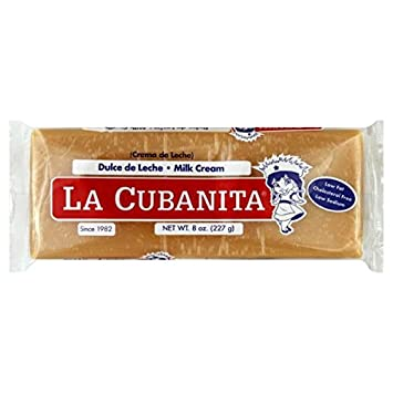La Cubanita Milk Cream 8oz, Dulce de Leche (1 pack)
