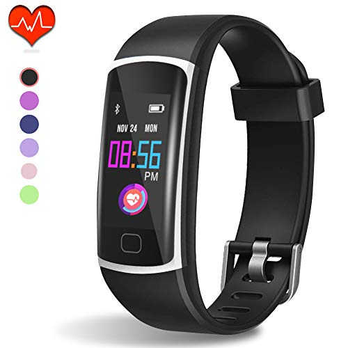 HuaWise Fitness Tracker, Waterproof Activity Tracker with Heart Rate Monitor and Sleep Monitor, Waterproof Pedometer, Step Counter, Calories Counter for Android & iPhone (Best Android Fitness Tracker)