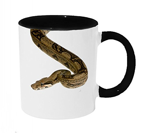 Boa Constrictor Dropping In Coffee or Tea 11oz Mug - Perfect Gift for Snake and Animal Lovers by Dark Spark Decals