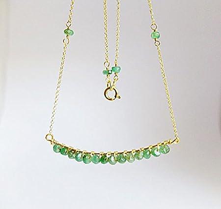 Top Collana verde smeraldo, vero smeraldo Jewelry Filledfilled RN24