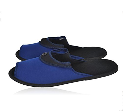Trip 1 Portable 38Following To Slippers Enjoying Travelling In Business 2 Trip Unisex Easy A Carry Folding Sandals Blue Business Black When CSYCwqT