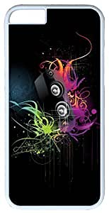 Abstract Music Is Art Case for iPhone 5c PC Material White