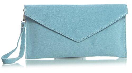 poudré Pastel Orange italien en soirée style suède z 'Leah' enveloppe Pochette Bleu Soldé Soldé LIATALIA Z de clutch n8wqO7T7