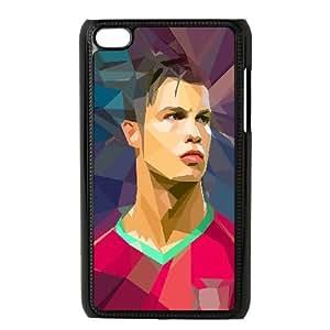 iPod Touch 4 Case Black ac47 c ronaldo illust art soccer sports OJ503484