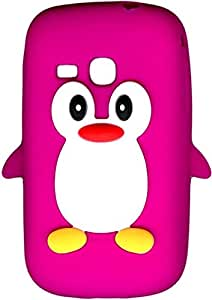 New!! Baby Pink Novelty Penguin Silicone Cover / Case for Samsung Galaxy mini 2 S6500