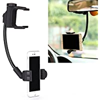 Rear View Mirror Car Mount Phone Holder Dock for iPhone 6 6S, Plus, 5S 5C 5 - Samsung Galaxy S7, S6, Edge, Edge+, S5, S4, S3, Active - Galaxy Note 5 4 3 2 Edge - LG G2 G3 G4 V10 K7 - Droid Turbo 2