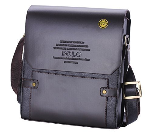 56b3a6d65106 Videng Polo Men s Leather RFID Blocking Secure Briefcase Shoulder Messenger  Bags