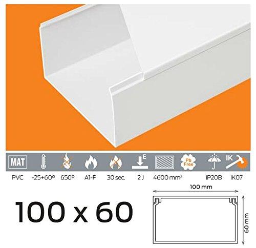 10m Kabelkanal 100x60 mm PVC Farbe Weiß Verschiedene Marken