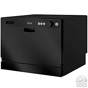 Westland DWV322CB Black 115 Volt Space-Saving Countertop Dishwasher