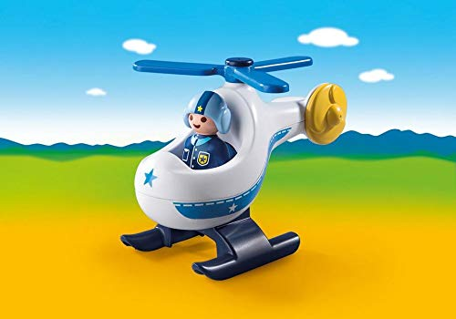 PLAYMOBIL/® 1.2.3 Take Along Police Station and Police Copter