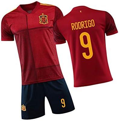 Rodrigo9#ブラジルの男性用サッカージャージ。男性、女性、若者向けのサッカージャージに適しています のタンクトップとショーツス