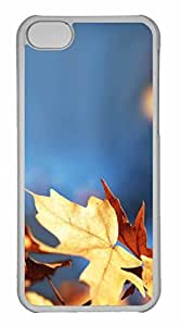 iPhone 5C Case, Personalized Custom Fall Foliage Against The Blue Sky for iPhone 5C PC Clear Case