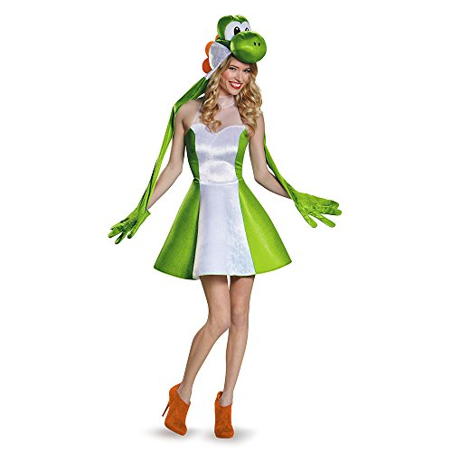 Super Mario Yoshi Costume (Yoshi Female Version Costume, Tween X-Large (14-16))